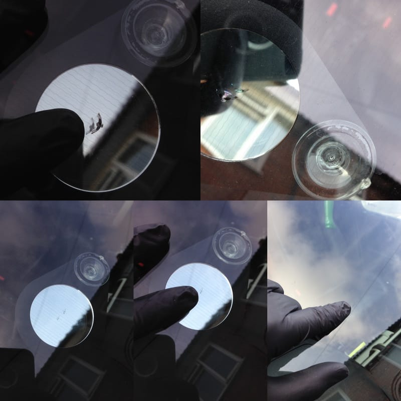 Heated Windscreen Repair Before and After picture